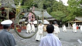Festival al santuario di Tsurugaoka Hachimangu video d archivio