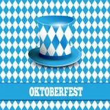 Festival alemán de la cerveza Diseño de la celebración de Oktoberfest con el sombrero bávaro Foto de archivo libre de regalías
