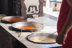festival all'aperto dell'alimento in Asia immagini stock