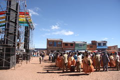 Festival in Altiplano, Bolivia, South America Stock Photo