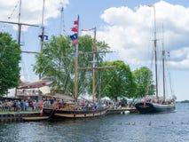 Festival alto 11 de las naves de Brockville Imagen de archivo libre de regalías