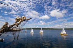 Festival alto Shelburne, Nueva Escocia de la nave Imagen de archivo libre de regalías