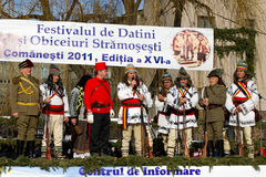 Festival ancestral customs and traditions. From Comanesti, Bacau, 30 december 2011 Royalty Free Stock Photos