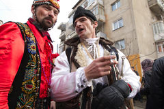 Festival ancestral customs and traditions. From Comanesti, Bacau, 30 december 2011 Stock Photography