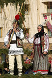 Festival ancestral customs and traditions. From Comanesti, Bacau Royalty Free Stock Photo