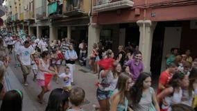 Festival annual Vilafranca del Penedes stock video footage