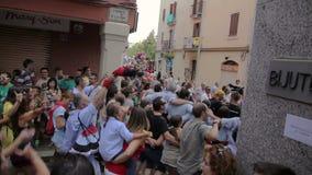 Festival annual Vilafranca del Penedes stock footage