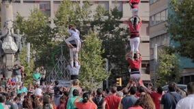 Festival annual Vilafranca del Penedes stock video