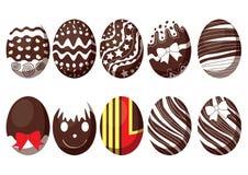 Festival annuel de conception colorée de chocolat et de lait d'oeuf de pâques illustration de vecteur