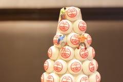 festival annuel de petit pain Cheung Chau, Hong Kong photo libre de droits
