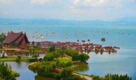 Festival antigo da pesca da cidade de Shuming fotografia de stock