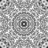 Festival art seamless mandala pattern. Ethnic geometric print. Black and whitel frame background. Vector illustration Royalty Free Stock Images