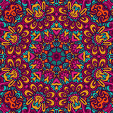 Festival art seamless pattern. Tribal indian ethnic seamless design. Festive colorful mandala pattern Royalty Free Stock Images