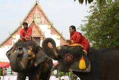 FESTIVAL ASIENS THAILAND AYUTTHAYA SONGKRAN Stockbilder