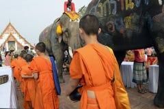 FESTIVAL ASIENS THAILAND AYUTTHAYA SONGKRAN Lizenzfreie Stockbilder