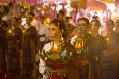 FESTIVAL ASIENS THAILAND CHIANG LOY KRATHONG lizenzfreie stockfotos