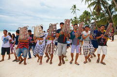 Festival ATI-Atihan on Boracay, Philippines. Is celebrated every Stock Image