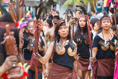 Festival ATI-Atihan on Boracay, Philippines. Is celebrated every Stock Photos