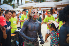 Festival ATI-Atihan on Boracay, Philippines. Is celebrated every Stock Photography