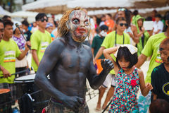 Festival ATI-Atihan on Boracay, Philippines. Is celebrated every Stock Images