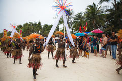 Festival ATI-Atihan on Boracay, Philippines. Is celebrated every Royalty Free Stock Image