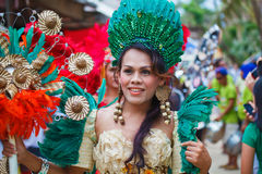 Festival ATI-Atihan on Boracay, Philippines. Is celebrated every Royalty Free Stock Images