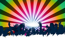 Festival Audience Represents Group Of People And Entertainment. Audience Concert Showing Group Of People And Music Festival Royalty Free Stock Photography