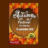 Festival autumn poster flayer vector illustration