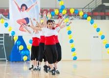 Festival av aerobics och kondition i Ulan-Ude, Ryssland Fotografering för Bildbyråer