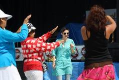 Festival av att dansa för Indien kvinnor Royaltyfri Fotografi
