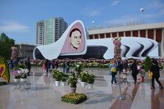 Festival av blommor i den Baku staden, Azerbajdzjan Arkivbilder