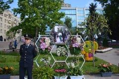 Festival av blommor i den Baku staden, Azerbajdzjan Royaltyfria Bilder