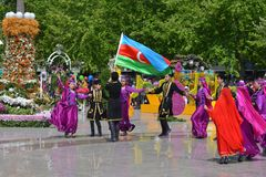 Festival av blommor i den Baku staden, Azerbajdzjan Royaltyfri Foto
