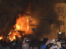 Festival av brand i Valencia Arkivfoton