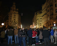 Festival av brand i Valencia Royaltyfri Fotografi