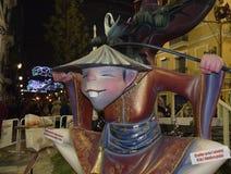 Festival av brand i Valencia Arkivfoto