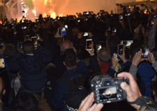 Festival av brand i Valencia Royaltyfri Foto