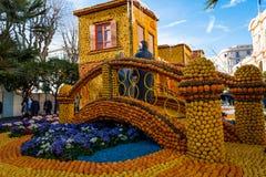 Festival av citronen, Frankrike royaltyfri fotografi