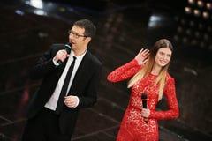 Festival av den italienska songen, Sanremo 2013 Arkivbild