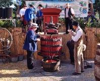 Festival av druvaskörden i chusclan Arkivfoto