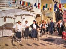 Festival av druvaskörden i chusclan Royaltyfri Fotografi