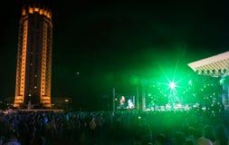 Festival av etnisk musik Forey Arkivbild