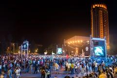 Festival av etnisk musik Forey Royaltyfri Bild