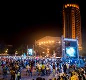 Festival av etnisk musik Forey Royaltyfria Foton