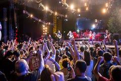 Festival av etnisk musik Forey Royaltyfria Bilder