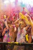 Festival av färg Holi ett parti Royaltyfri Fotografi