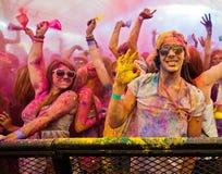 Festival av färg Holi ett parti Royaltyfria Foton