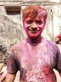 Festival av färger - Holi royaltyfria foton