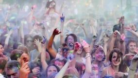 Festival av färger Holi lager videofilmer