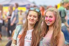 Festival av färger i Krakow Royaltyfri Fotografi